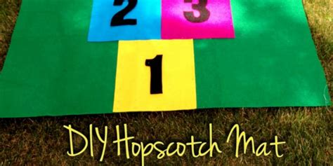 how to make an easy hopscotch mat tip junkie