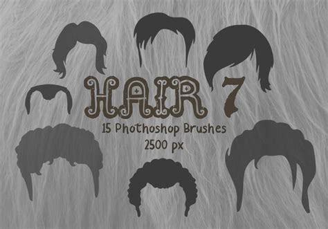 Hairstyle Photoshop Brushes by Hair Photoshop Brushes 7 Free Photoshop Brushes At