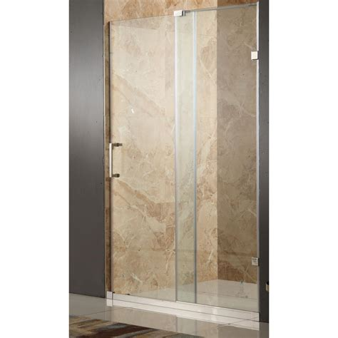 48 Frameless Sliding Shower Door Anzzi Chief 48 In X 72 In Frameless Sliding Shower Door In Polished Chrome With Handle Sd
