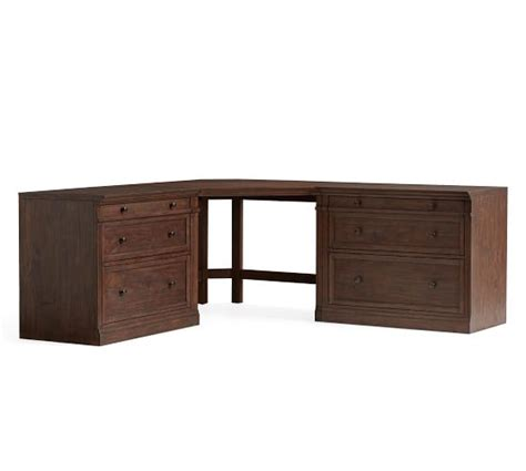 Corner Desk Pottery Barn Livingston Large Corner Desk Brown Pottery Barn