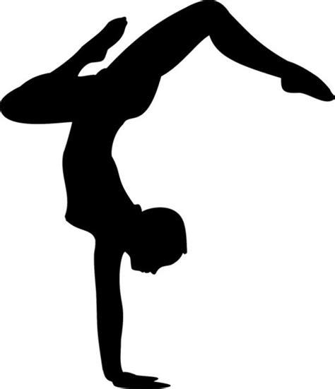 printable gymnastics stencils dancer silhouette stencil 02 contemporary wall