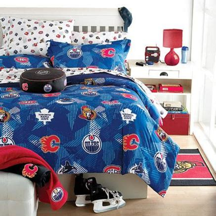 nhl bedding nhl 174 comforter set sears sears canada new room