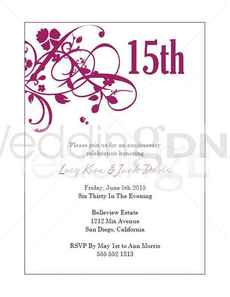 15 Years Invitation Cards 15 years invitations