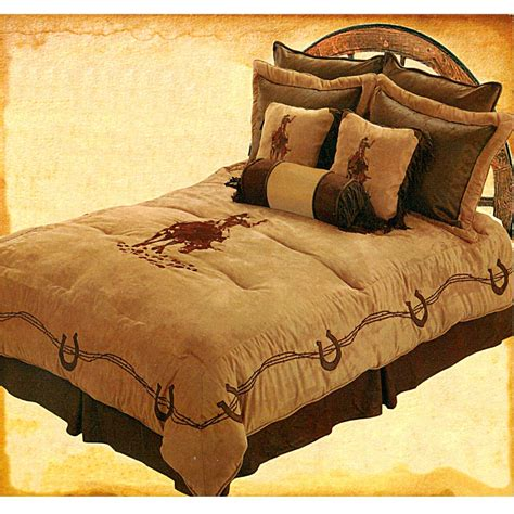 cowboy comforter bull riding embroidered western comforter set