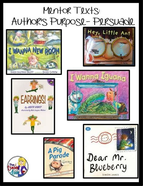 picture books to teach persuasive writing 17 best images about author s purpose on