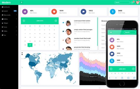 web templates for admin panel modern admin panel flat bootstrap responsive web template