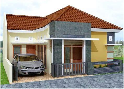 desain dapur warna orange 65 model desain rumah minimalis 1 lantai idaman dekor rumah