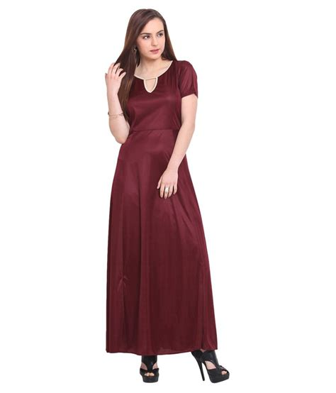 blink maroon viscose maxi dress buy blink maroon viscose