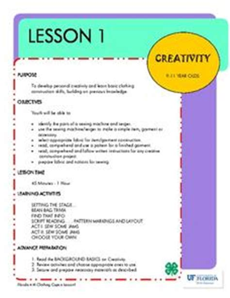 fashion design lesson plans clothing capers creativity lesson plan for 3rd 12th
