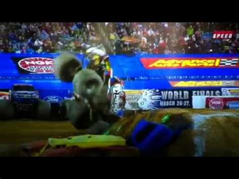 nitro circus monster truck backflip nitro circus monster truck backflip in competition youtube