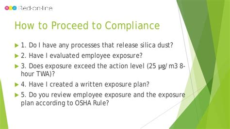 Webinar Osha S Updated Silica Dust Rule Written Exposure Plan Silica Template