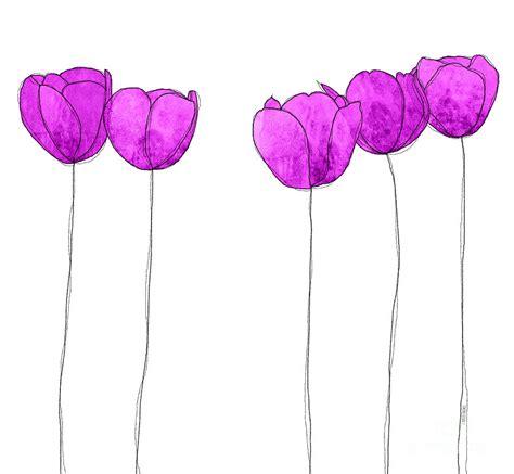 Purple Flower Drawing purple flowers drawing by j ripley fagence