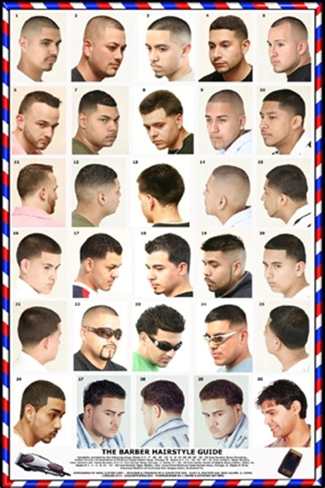 hair cut types for numbers barber poster mens hairstyles