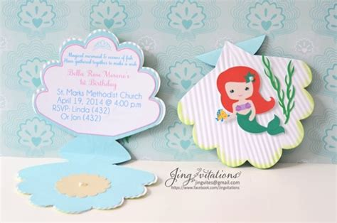 Mermaid Handmade Invitations - mermaid handmade invitations www imgkid the