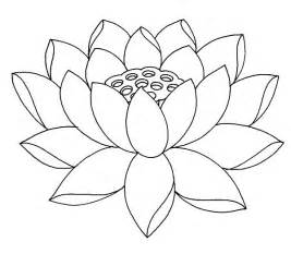 Lotus Flower Coloring Pages Fully Bloom Lotus Flower Coloring Pages Batch Coloring