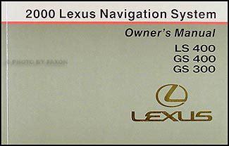 download car manuals 2000 lexus lx navigation system 2000 lexus gs 300 400 wiring diagram manual original