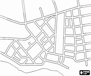 town map coloring page cities towns and villages coloring pages printable games