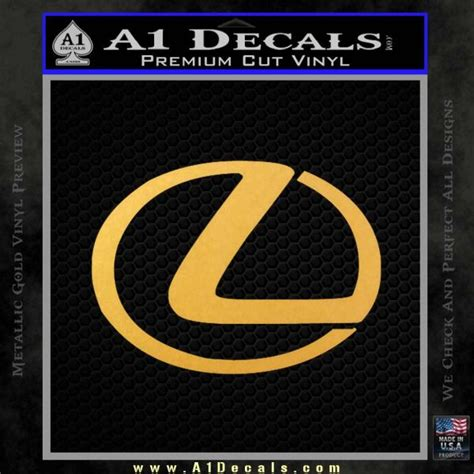 gold lexus logo lexus decal sticker logo 187 a1 decals
