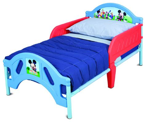 safe toddler bed safe lightweight disney mickey mouse metal plastic frame baby toddler kids bed