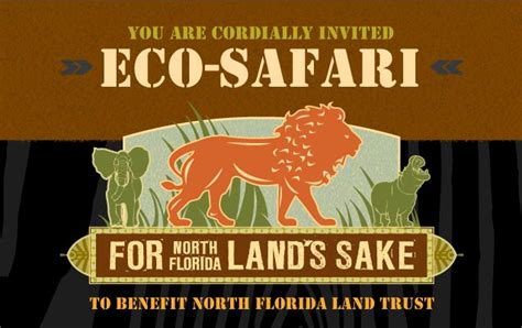 themed charity events eco safari themed charity event to benefit north florida