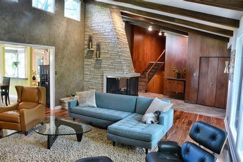 retro modern living room living room interiors hurst design build remodeling