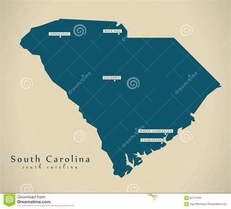 usa map carolina map of the u s state south carolina vector