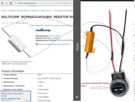 what is bypass resistor what is bypass resistor 28 images 3 3 ohms srs airbag resistors 0 25w 2 fused bypass delete
