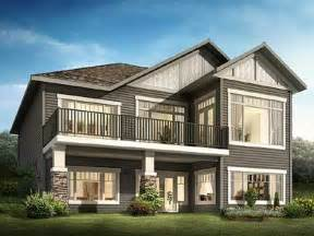 frame a sloping lot plans front sloping lot house plan craftsman