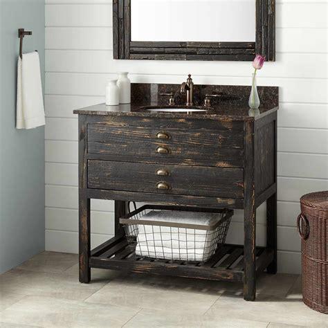 Bathroom Wood Vanities 36 Quot Benoist Reclaimed Wood Vanity For Undermount Sink Antique Pine Bathroom Vanities Bathroom