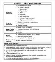 business travel itinerary template business itinerary template 7 free documents