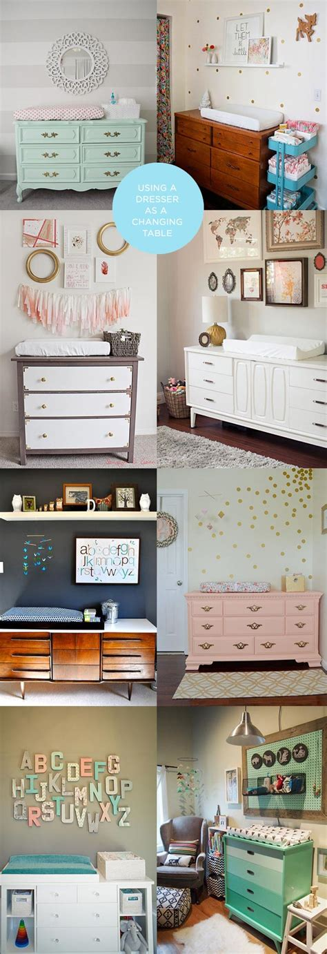 using a dresser as a changing table using a vintage dresser as a changing table