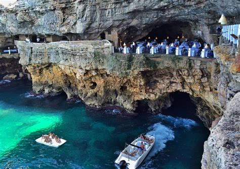 cave restaurant side of a cliff italy magnificent restaurant built into a cave in a cliff on the