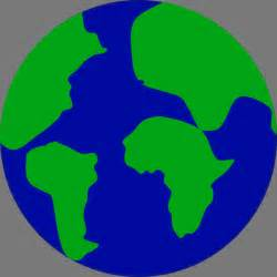 jonadab earth with continents separated clip art at clker
