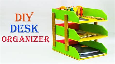 How To Make A Desk Organizer How To Make Cardboard Desk Organizer