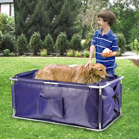 pet bathtub for dogs portable pet bath with carrying case christmas tree