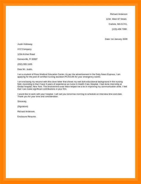 Exle Simple Cover Letter by Cover Letter For Paper Exle 28 Images 6 Accountant