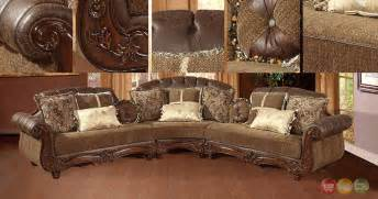 Victorian Sectional Sofa Traditional Victorian Styled Sectional Sofa Exposed Wood