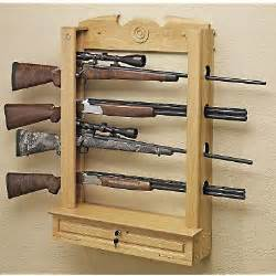 how to build a gun rack for a wall