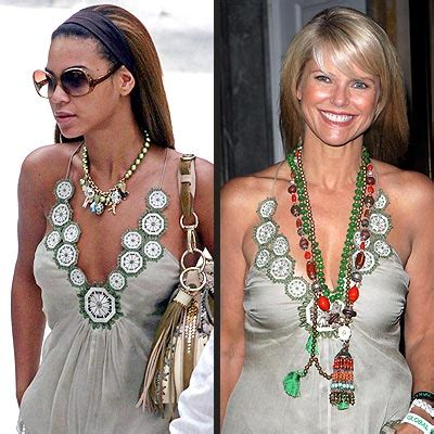Beyonce And Christie Brinkley In Catherine Malandrino fashion faceoff beyonc 201 vs christie