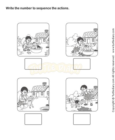 Kindergarten Sequencing Worksheets by Picture Sequence Worksheet 18 Esl Efl Worksheets