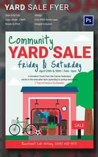 sale flyer templates 14 best yard sale flyer templates psd designs free