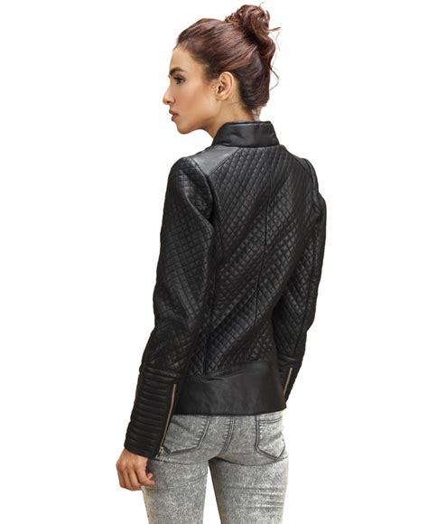 Black Quilted Bomber Jacket by Black Quilted Leather Bomber Jacket Jackets Maker