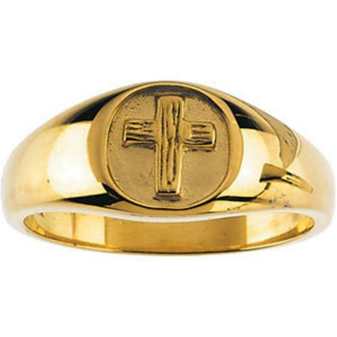 mens 14k yellow gold dress rings boomer style