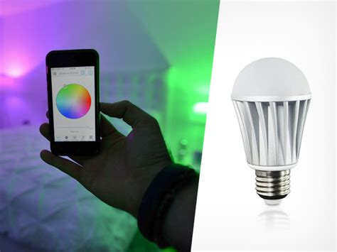 smartphone controlled lights smartphone controlled light bulb has millions of color