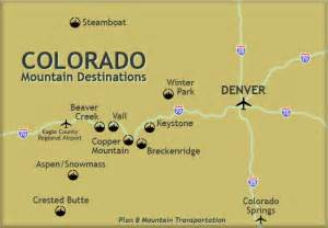 map of ski resorts colorado denver colorado mapa