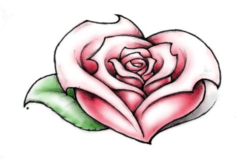 heart shaped rose tattoo of a by nittygritty71 on deviantart