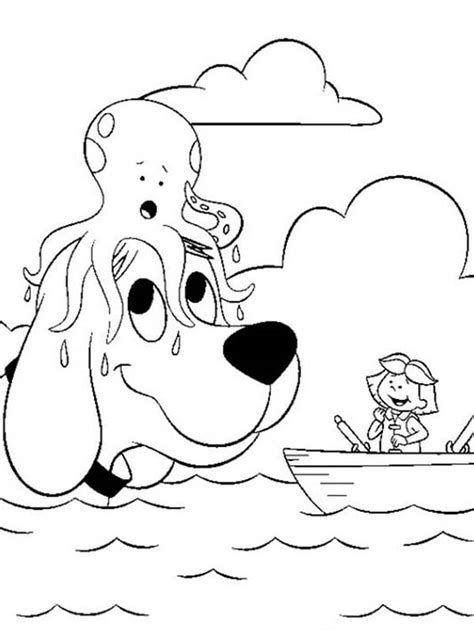 coloring page clifford big red dog coloring pages of clifford the big red dog coloring home