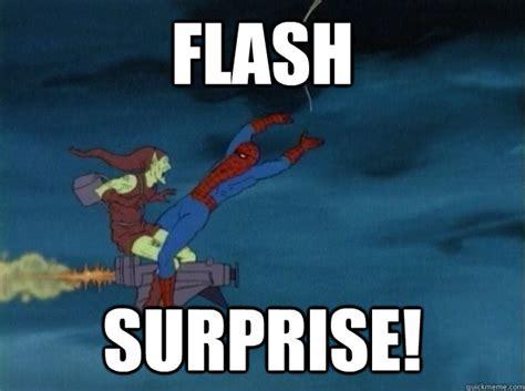 Meme Surprise - flash surprise 60s spiderman meme quickmeme