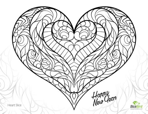 free online coloring pages for adults animals coloring pages heart slice free adult coloring pages