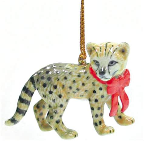 northern rose porcelain christmas tree decoration cheetah